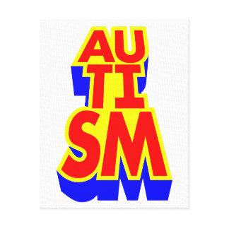 Autism Superhero Canvas Print