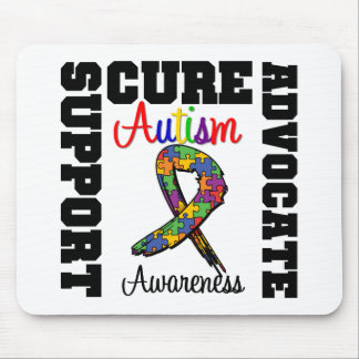 Autism Support Advocate Cure Mouse Mats