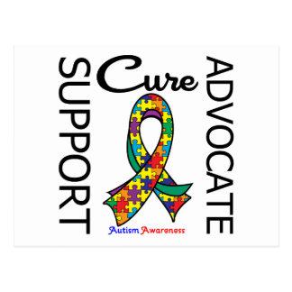 Autism Support Advocate Cure Postcard