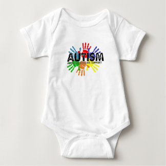 Autism Support Advocate Educate - Autism Awareness Baby Bodysuit
