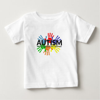 Autism Support Advocate Educate - Autism Awareness Baby T-Shirt