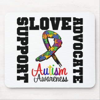 Autism Support Advocate Love Mouse Mat