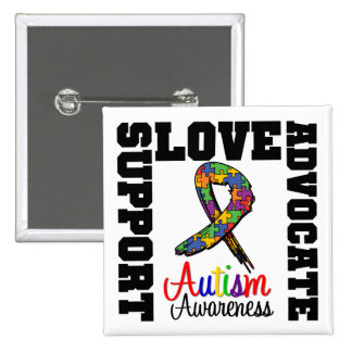 Autism Support Advocate Love Pinback Button