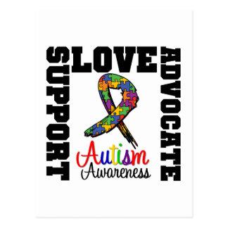 Autism Support Advocate Love Postcard
