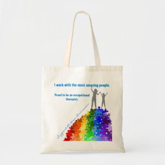Autism Support Climbing New Heights Woman & Girl Tote Bag