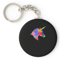 Autism Support Cute Autism Unicorn Gift Keychain