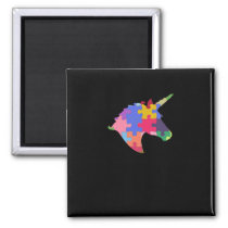 Autism Support Cute Autism Unicorn Gift Magnet