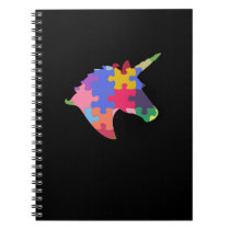 Autism Support Cute Autism Unicorn Gift Notebook
