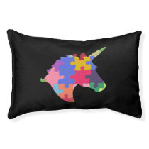 Autism Support Cute Autism Unicorn Gift Pet Bed