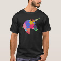Autism Support Cute Autism Unicorn Gift T-Shirt
