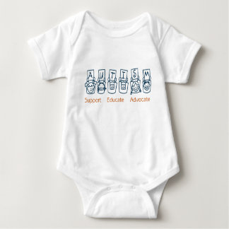 Autism: Support Educate Advocate Baby Bodysuit