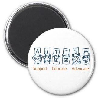 Autism Support Educate Advocate Refrigerator Magnet
