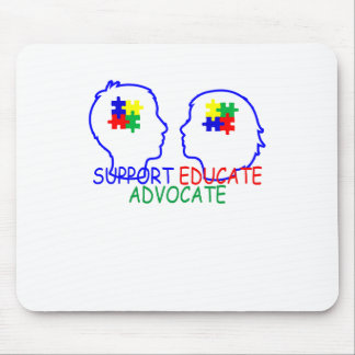 autism Support Educate Advocate . Mouse Pad