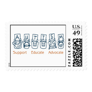Autism: Support Educate Advocate Postage
