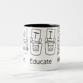 Autism: Support Educate Advocate Two-Tone Coffee Mug