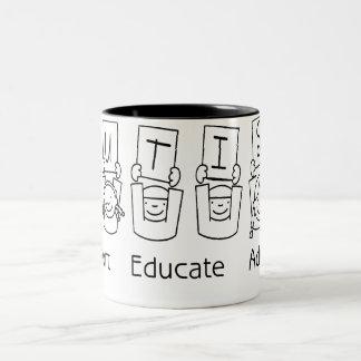 Autism: Support Educate Advocate Two-Tone Coffee Mug