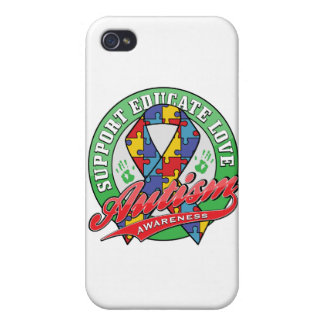 Autism Support - Educate - Love Cover For iPhone 4