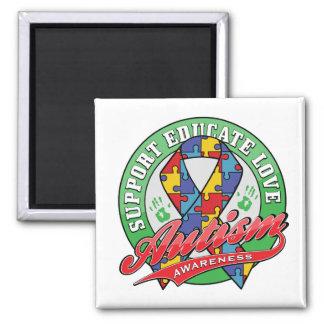 Autism Support - Educate - Love Fridge Magnets