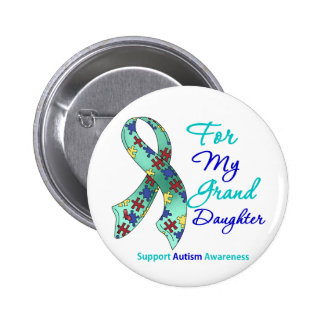 Autism Support For My Granddaughter Button
