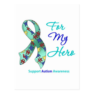 Autism Support For My Hero Postcard
