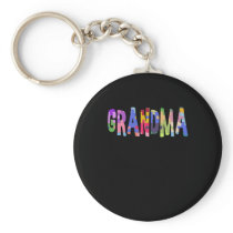 Autism Support Grandma Autism Keychain