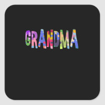 Autism Support Grandma Autism Square Sticker