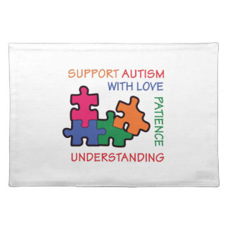 AUTISM SUPPORT CLOTH PLACEMAT