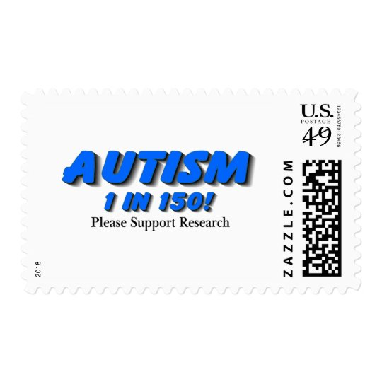 Autism Support Research Postage