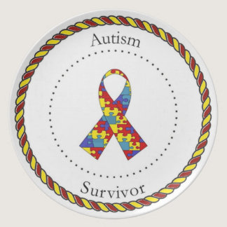 Autism Survivor Plate
