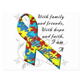 Autism Survivor Postcard