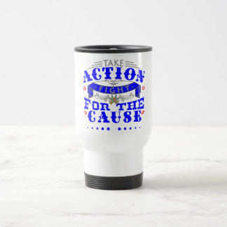 Autism Take Action Fight For The Cause Coffee Mugs