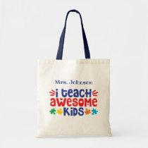 Autism Teacher Appreciation Personalized Tote Bag