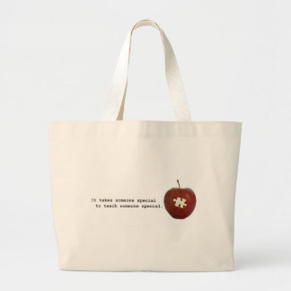 Autism Teacher Jumbo Tote Bag