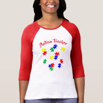 Autism teacher Sleeve Raglan (Fitted) T-Shirt