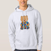 Autism Teddy Bear with Love Hoodie