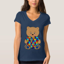 Autism Teddy Bear with Love T-Shirt
