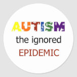 Autism the ignored epidemic stickers