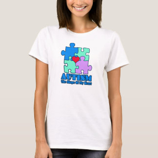 Autism The Shape Of my Heart Puzzle Pieces - T-Shirt