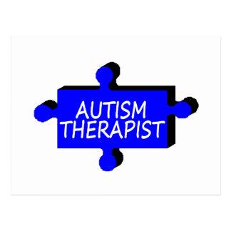 Autism Therapist Autism Puzzle Piece Postcard