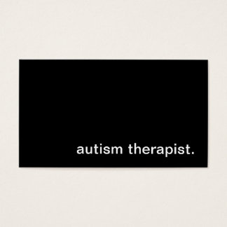 Autism Therapist Business Card
