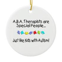 Autism Therapist Ceramic Ornament
