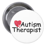 Autism Therapist (Hrt Puzzle) 3 Inch Round Button