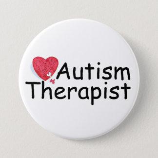 Autism Therapist (Hrt Puzzle) Pinback Button