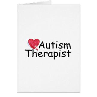 Autism Therapist (Puzzle Hrt) Card