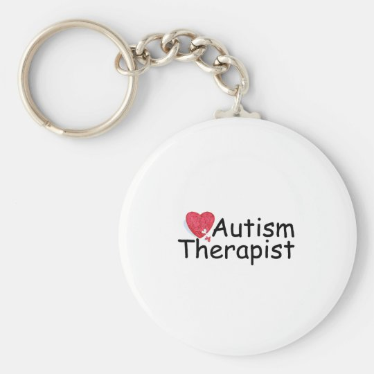 Autism Therapist (Puzzle Hrt) Keychain