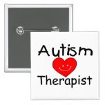 Autism Therapist (Smiley Hrt) 2 Inch Square Button