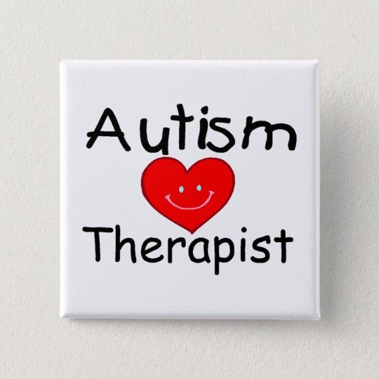Autism Therapist (Smiley Hrt) Button