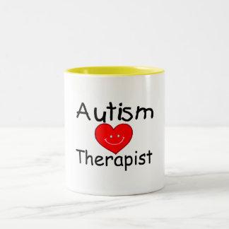 Autism Therapist (Smiley Hrt) Two-Tone Coffee Mug