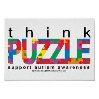 Autism Think PUZZLE Poster