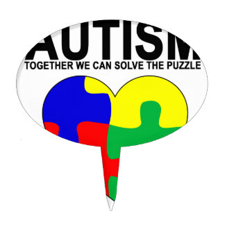 Autism - Together we can solve the puzzle T-Shirt. Cake Topper